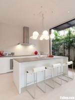Tủ bếp gỗ Acrylic chữ I thiết kế đơn giản tinh tế – TBT3571