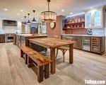Tủ bếp gỗ Dỗi thiết kế phù hợp không gian rộng – TBT3582