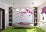 Những sắc màu ngọt ngào lãng mạn cho không gian phòng ngủ