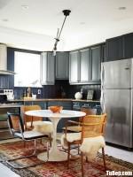 Tủ bếp gỗ Tần Bì chữ L thiết kế bán cổ điển – TBT3599