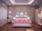 Những mẫu giấy dán tường vô cùng tươi trẻ, bắt mắt cho phòng ngủ