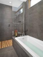 Những cách trang trí phòng tắm cực ấn tượng với hai gam màu trắng-xám