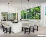 Tủ bếp gỗ Acrylic chữ G phù hợp không gian mở – TBT3664