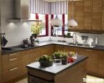 Tủ bếp gỗ Laminate chữ L nhỏ tiện dụng – TBT3666