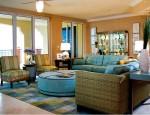 Trang trí phòng khách theo phong cách nhiệt đới vô cùng đẹp mắt và sang trọng