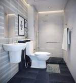 Phòng tắm đẹp thêm xinh nhờ những mẫu gạch ốp tường cực kỳ bắt mắt
