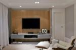 Những thiết kế đặt tivi trên tường vô cùng sang trọng tạo ấn tượng cho phòng khách