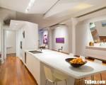 Tủ bếp gỗ Acrylic chữ I màu trắng thiết kế sang trọng – TBT3680