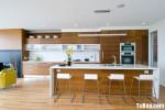 Tủ bếp Laminate chữ I phong cách Châu Âu hiện đại – TBB4213