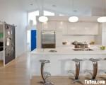 Tủ bếp gỗ Acrylic màu trắng chữ I tiện dụng – TBT3714