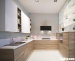 Tủ bếp Laminate dạng chữ U phong cách Châu Âu hiện đại – TBB4259