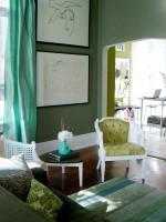 Trang trí phòng khách đầy tươi mát và tự nhiên với tông màu xanh