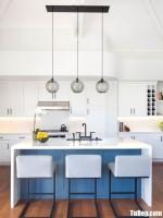 Tủ bếp gỗ Tần Bì thiết kế bán cổ điển – TBT3722