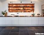 Tủ bếp gỗ Acrylic màu trắng chữ I hiện đại – TBT3751