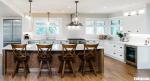 Tủ bếp gỗ Xoan Đào sơn men trắng chữ L mang phong cách Châu Âu – TBB4243
