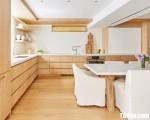 Tủ bếp gỗ Laminate thiết kế hiện đại sang trọng – TBT3753