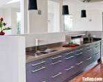 Tủ bếp gỗ Acrylic chữ I nhỏ gọn tiện dụng – TBT3763