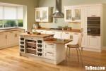 Tủ bếp gỗ Xoan Đào chữ L sơn men trắng mang phong cách Châu Âu – TBB4294