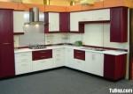 Tủ bếp gỗ Xoan Đào chữ L sơn men mang phong cách Châu Âu – TBB4275