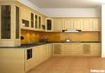 Tủ bếp gỗ Sồi Mỹ sơn PU chữ L sang trọng, cổ điển – TBB4309