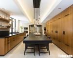 Tủ bếp gỗ Laminate màu vân gỗ chữ I – TBT3114
