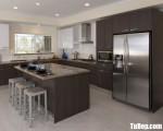 Tủ bếp gỗ Laminate có khung tủ lạnh tiện dụng – TBT3801