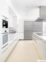 Tủ bếp gỗ Acrylic màu trắng thiết kế hiện đại màu trắng – TBT3148
