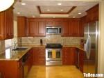 Tủ bếp gỗ Căm Xe chữ U phong cách cổ điển – TBB4388