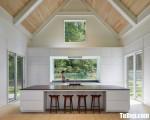 Tủ bếp gỗ Acrylic chữ I thiết kế hiện đại – TBT31847