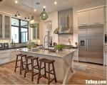 Tủ bếp gỗ Laminate có khung tủ lạnh tiện dụng – TBT3188