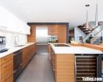 Tủ bếp gỗ Laminate màu vân gỗ chữ L – TBT3212