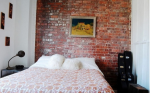 Mốt trang trí tường gạch cho phòng ngủ vô cùng ấn tượng