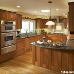 Tủ bếp gỗ Tần Bì chữ G sơn PU sang trọng với thiết kế tinh tế – TBB4429