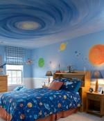 Phòng ngủ đẹp huyền bí với cả một dải ngân hà