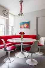 Bố trí cho phòng bếp nhỏ không gì tiện lợi hơn bàn tròn