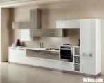 Tủ bếp gỗ Acrylic chữ I đơn giản tinh tế – TBT3292
