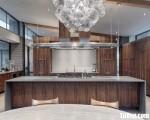 Tủ bếp gỗ Laminate chữ I sang trọng tiện dụng – TBT3301