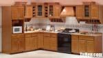 Tủ bếp gỗ tự nhiên Giáng Hương chữ L sang trọng với thiết kế tinh tế – TBB4479