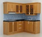 Tủ bếp gỗ xoan đào đẹp cho nhà ở tại chung cư