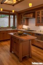 Tủ bếp gỗ Tần Bì màu vân gỗ chữ L – TBT3427