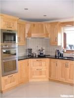 Tủ bếp gỗ Tần Bì tự nhiên chữ L kết hợp hệ khung bao lò nướng-lò vi sóng – TBB4655