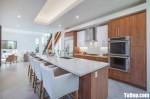 Tủ bếp gỗ Laminate màu vân gỗ chữ I – TBT3463