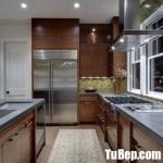 Tủ bếp gỗ Laminate chữ L màu vân gỗ – TBT3620