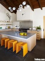 Tủ bếp gỗ Laminate chữ L màu vân gỗ – TBT3676