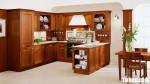 Tủ bếp gỗ tự nhiên Giáng Hương sơn PU chữ U phong cách cổ điển – TBB4779