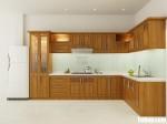 Tủ bếp gỗ Sồi Nga tự nhiên sơn PU chữ L đẹp tinh tế sang trọng – TBB4765