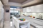 Tủ bếp gỗ Acrylic màu trắng chữ I hiện đại – TBT3678