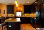 Tủ bếp gỗ Căm Xe thiết kế sang trọng – TBT3775