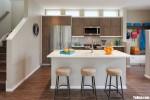 Tủ bếp gỗ laminate thiết kế hiện đại có bàn đảo – TBT3847
