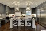 Tủ bếp gỗ Tần Bì thiết kế sang trọng bán cổ điển – TBT3839